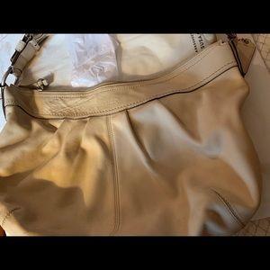 Cream Coach shoulder bag